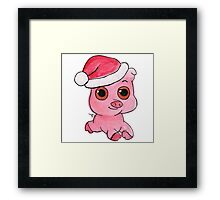 Christmas Pig Framed Print