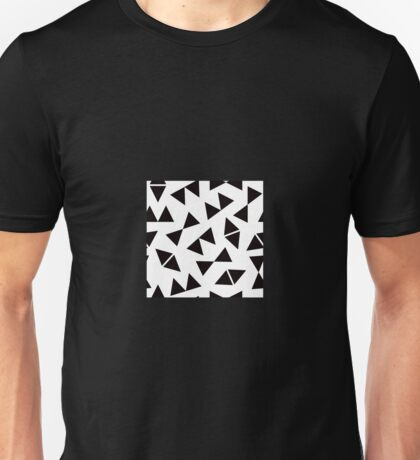 Geo Triangle Symbols in Black + White Unisex T-Shirt
