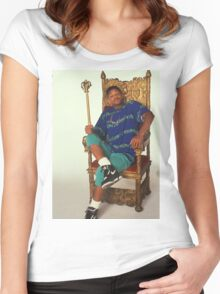 Fresh Prince of Bel-Air on Throne Women's Fitted Scoop T-Shirt