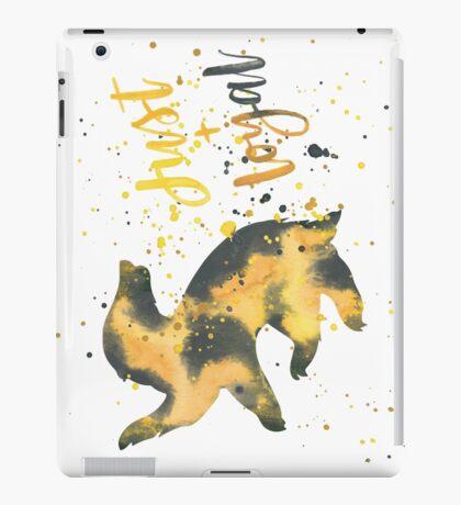 House Badger Just and Loyal Watercolor iPad Case/Skin