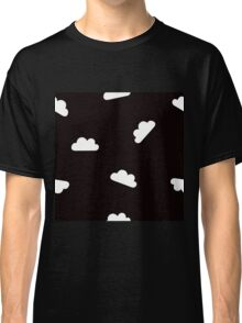 Puffy Clouds in White on Black Classic T-Shirt