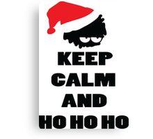 Keep calm and ho ho ho Canvas Print