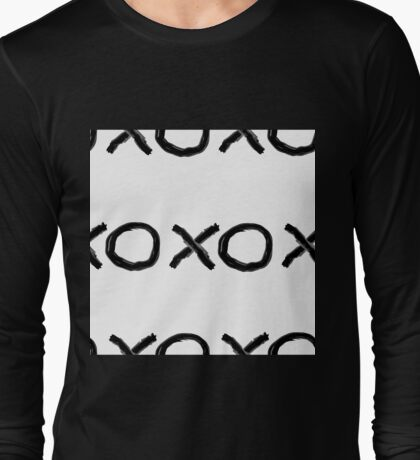 XOXO in Black + White Long Sleeve T-Shirt