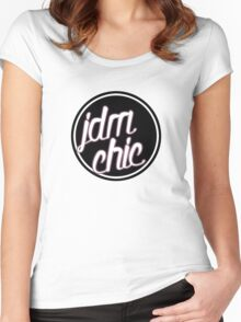 Jdm Chic Women's Fitted Scoop T-Shirt