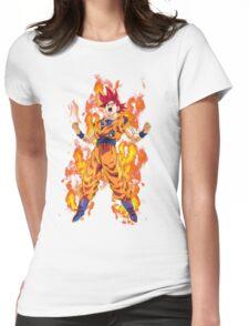 Super Saiyan God Goku (Dragon Ball Super) Womens Fitted T-Shirt