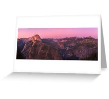 Glacier point at sunset Greeting Card