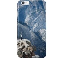 Climber near Half Dome, Yosemite iPhone Case/Skin