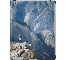 Climber near Half Dome, Yosemite iPad Case/Skin