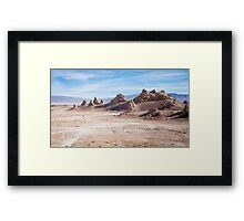 Lost in Trona pinnacles Framed Print