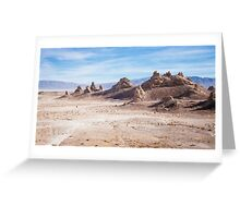 Lost in Trona pinnacles Greeting Card