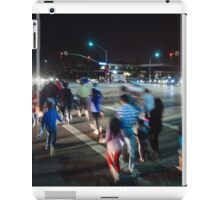 Busy street in Cupertino, California iPad Case/Skin