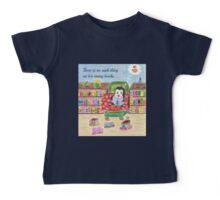 Smart Reading Penguin Baby Tee