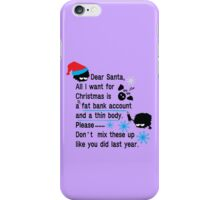 Funny new year resolutions iPhone Case/Skin