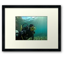 Scuba diving#19 Framed Print