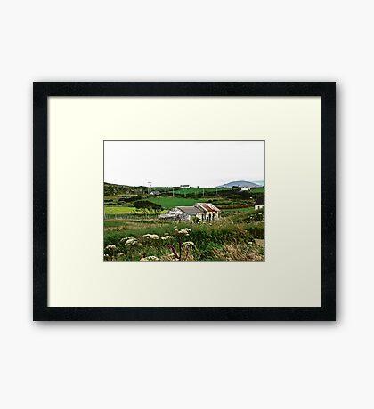 Abandoned cottage in Donegal, Ireland Framed Print