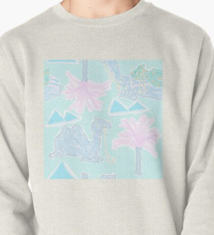 Camel Cabana in Psychedelic Blue Pullover