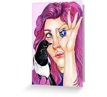 magpie and friends  Greeting Card