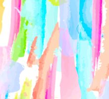 Abstract Brushstrokes 4 - Tropical Sticker
