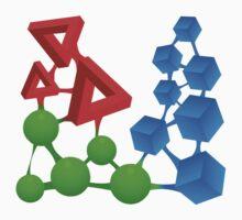 Glitch Compounds alphose Kids Tee