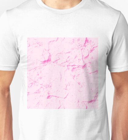 Pink Marble Unisex T-Shirt