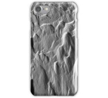 Snowy ridges, icy textures iPhone Case/Skin