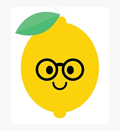 Lemon Lime Emoji Nerd Noob Glasses Photographic Print