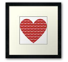 I Heart Tae Framed Print