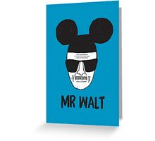 Mr. Walt Greeting Card