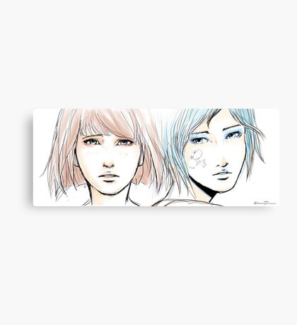 Ghost in the back of your head - Pricefield Canvas Print