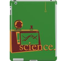 This is the one that says 'science', and has pictures of science, on a green background. iPad Case/Skin