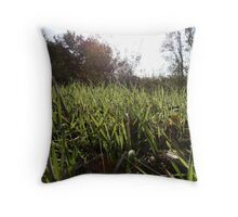 Fresh Grass Throw Pillow