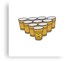 UMich Beer Pong Canvas Print