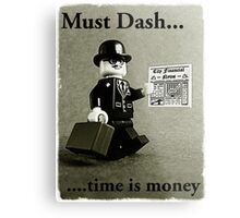 Must dash...time is money, by Tim Constable Metal Print