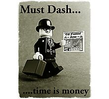 Must dash...time is money, by Tim Constable Photographic Print