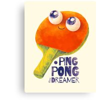 Ping-pong dreamer Canvas Print