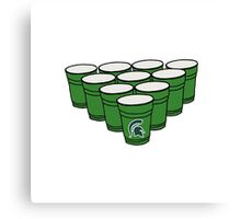 Michigan State Beer Pong Canvas Print