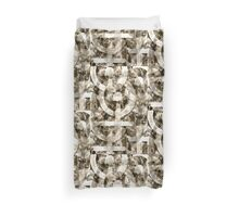 Multi-Playing Image. Infinity. Sepia Pattern. Duvet Cover