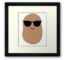 Potato Emoji Cool Sunglasses Framed Print