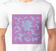Oriental Flower - Serenity Blue and Radiant-Orchid Unisex T-Shirt