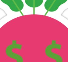 Radish Emoji Money Face Sticker