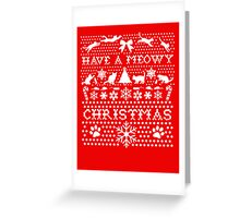 HAVE A MEOWY CHRISTMAS SWEATER PATTERN Greeting Card