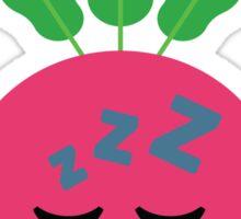 Radish Emoji Tired and Sleep Sticker