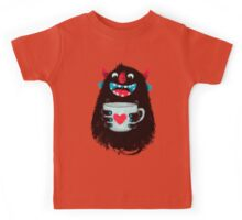 Demon with cup Kids Tee