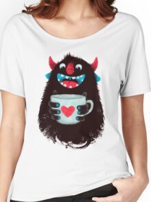 Demon with cup Women's Relaxed Fit T-Shirt