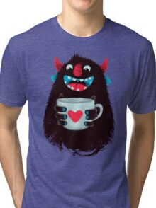 Demon with cup Tri-blend T-Shirt