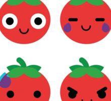 Tomato Emoji Different Facial Expression Sticker