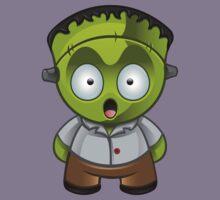 Frankenstein Monster Boy Shocked Kids Tee