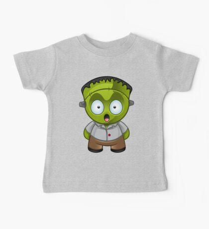 Frankenstein Monster Boy Shocked Baby Tee