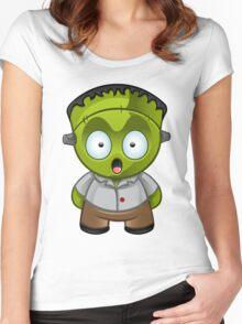 Frankenstein Monster Boy Shocked Women's Fitted Scoop T-Shirt