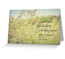 Jane Austen Content Greeting Card